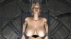 3D Spatial Science Fiction Blond Slave