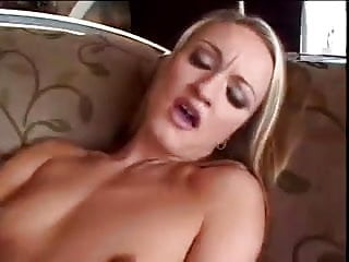 Cute Blonde Plays With Her Pussy Through Her Panties