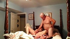 Grandpa playing with wife
