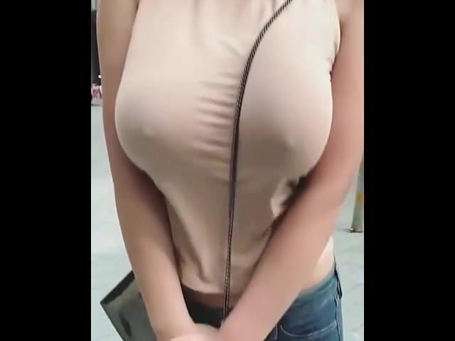 Just A Girl With Big Boobs Jumping Up And Down In-3474