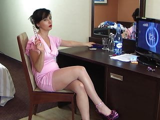 polish glamour milf stockings pink