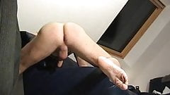her man has a foot fetish and strokes him off