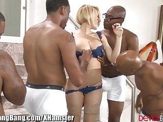 Kagney Linn Karter Gangbanged by 4 Black Guys