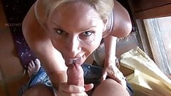 stepMom Gives stepson A Blowjob In Yoga Pants