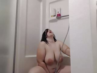 Gorgeous chubby girl in the shower