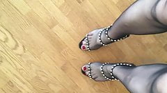 Charlotte fetish video with Zanotti sandals high heels !