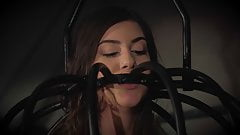 Teen trapped in a cage submissive to punishment humiliation