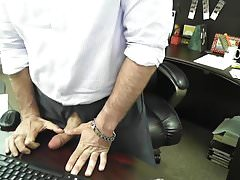 Boss Daddy's Cock is out at work