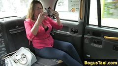 British taxi milf spunked in mouth after oral