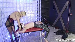 MonicaMilf femdom - blue balls and some hard pegging