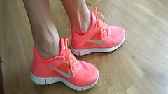 My sexy nike pink sneakers