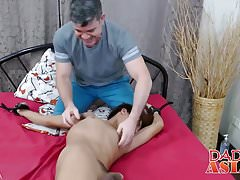 Raw fucked twink gets restrained and tickled with a feather