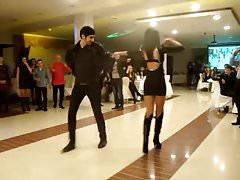 Circassian girl dancing in high heels and short dress's Thumb