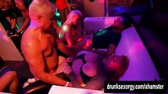 Bisexual pornstars fucking in a club