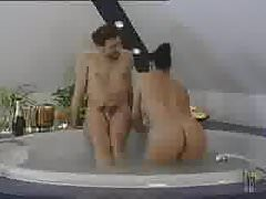 Laura Angel fucks in the bathroom