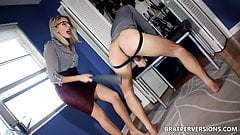 Domina Nikki Brooks Spanks a Wanker