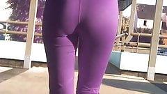 candid ass leggings