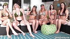 6 Girl Orgy! Jelena Jensen Vicky Vette Maggie Carmen Rachel!