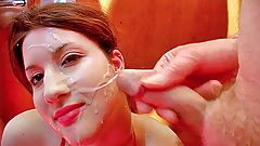 Nervous blowjobs and heavy cum facials