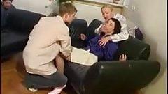 Ethel Enticed  Into A Threesome