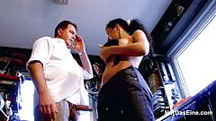German not mother and daughter Fuck Step-dad on Work