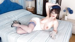 Big boobs brunette fingers hairy wet pussy in retro nylons