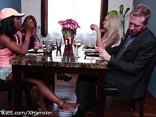 Parents get Horny for Daughers Ebony Friend