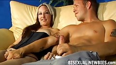 Get ready for you first bisexual threesome
