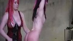 Lesbian Femdom Whipping And Toying