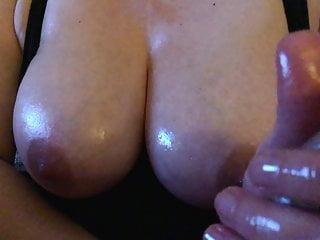 Oily handjob, perfect tits...jerk of challenge!