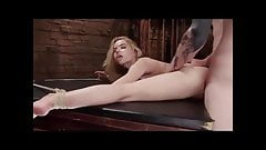 Blonde slave getting used in dungeon