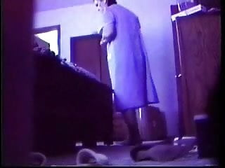Enjoy my mum dressing and undressing. Hidden Cam