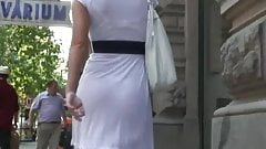 Upskirt And Sheer White Dress