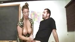 Lucky guy gets an awesome handjob from milf