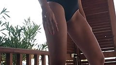 Wife dance at the beach (mute video sorry)