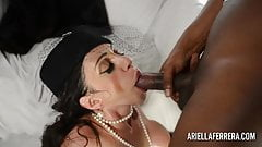 Ariella Ferrera Shows Off and Then Fucks Huge Black Cock