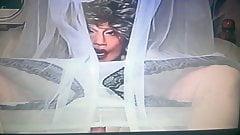 wig  +  mask crossdresser- shemale  ff nylons, sheer  nylon