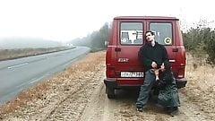 german couple fuck on street