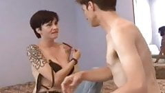 Tattoed amateur girlfriend sucks and fucks at home