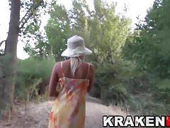 Krakenhot - Voyeur video with a hot Blonde outdoor