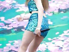 Girl in short skirt dancing
