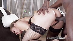 Private Black - Sexy Blonde Mary Kalisy Pussy Pounded By BBC