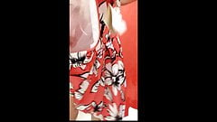 wife changes cloths in a dressing room - Part 2