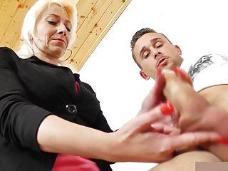 Mature Teacher Handjob Blowjob Long Red Nails