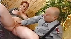 German MILF Kira Red Rough Fucked by Midget's Thumb