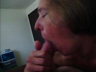 Practicing sucking cock