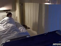 Getting fucked and she cums in the hospital bed