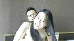 Asia couple webcam fun