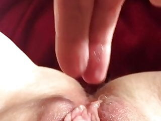 Upclose View Of Me Playing And Cumming