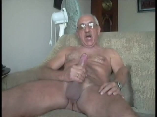Explosive old man cumshot